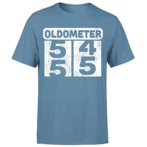 Milestone Birthday Oldometer odómetro torneando 55 años regalo para hombre camiseta regalo para él