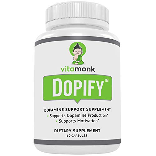 Dopify™ Dopamine Supplement by VitaMonk™ - Dopamine Booster with Uridine Monophosphate, Mucuna Pruriens, L-Theanine, Tyrosine and More - No Artificial Fillers, Just Brain Food - 60 Capsules