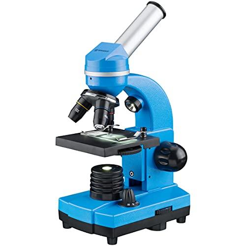 Bresse Junior microscopio per studenti Biolux Sel con supporto per smartphone, accessori e sistema di zoom Barlow, per bambini, principianti e adulti