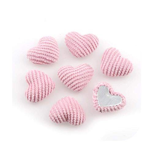 Buttons Mix Colors 20 mm 20 piezas de pana en forma de corazón con botones cubiertos de fondo plano cabujón DIY decoración botones scrapbooking DIY DIY DIY rosa