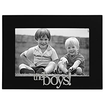 Malden International Designs 4307-46 The Boys! Expressions Picture Frame 4x6 Black