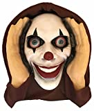 Scary Peeper Halloween Decoration Peeping Tom, Indoor and Outdoor Window Hanging Mask for Spooky House Party Scares, Tricks, and Laughs, Novelty Decor - Lenticular-Eyed Clown