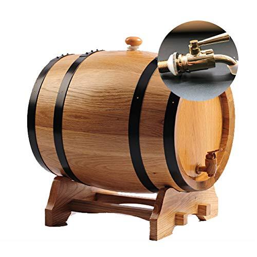 JIJIHAO JIUTONGCan Kühler Eichenweinfass 3 Liter 5 Liter 10L20L30 Liter Backen Eichenfässer Weinfässer selbst gebraute Weinfässer Weinfass (Farbe : B, größe : 5L)
