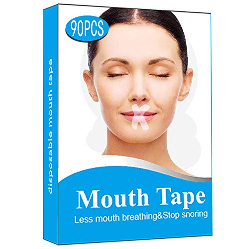 Sleep Strips, 90 Pcs/120Pcs Anti Snore Mouth Tape Self Adhesive for Snoring Relief and Sleeping Quality Improvement (90)