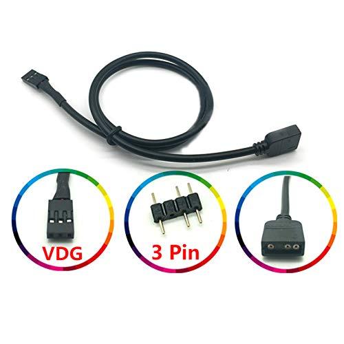LICHIFIT 5 V 3 Pines RGB VDG Cable de conversión Conector para Placa Base GIGABYTE