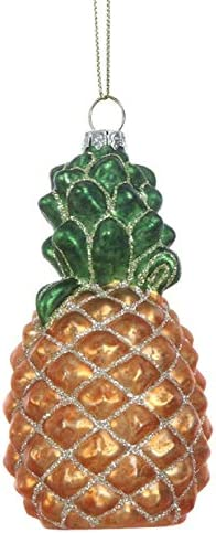 Creative Co op Sweet Tropical Pineapple Hanging Christmas Ornament product image