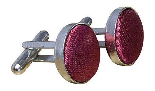 Sock Snob - Homme et Femme boutons de manchette plaqué argent dans de nombreuses couleurs (Burgundy)