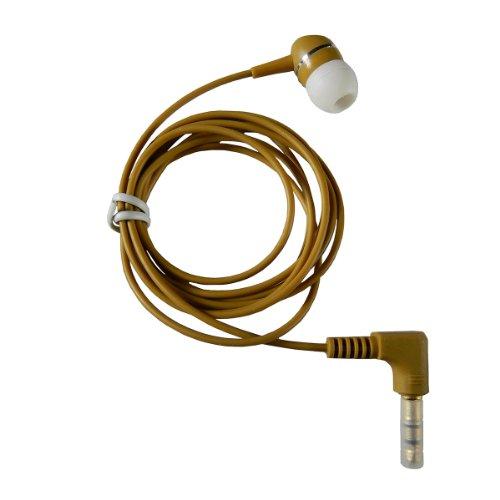 1-Bud-B Brown Earphone w/Heavy-Duty Cord