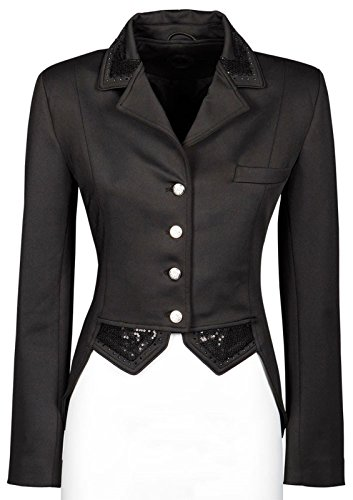 Harry's Horse Damen Turniersakko Turnierjacket Montpellier Pailletten (L, Schwarz)
