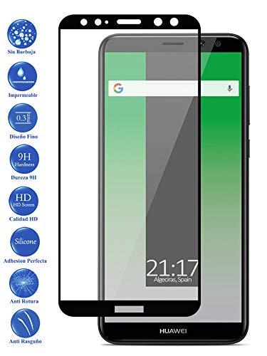 Todotumovil Protector de Pantalla Huawei Mate 10 Lite Color Negro Completo 3D Cristal Templado Vidrio Curvo para movil