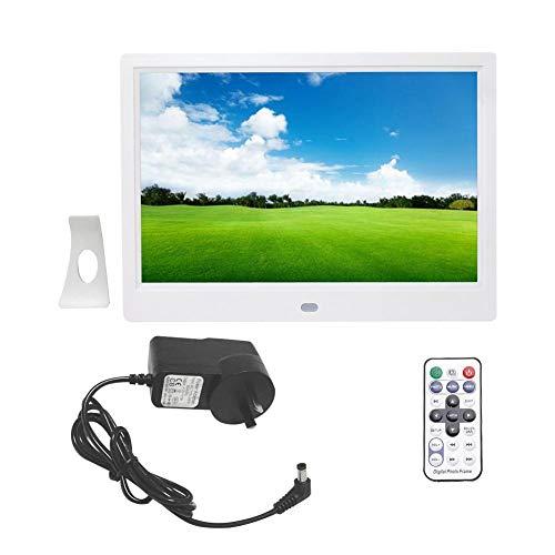 Portafoto digitale, schermo da 10 pollici 1280 * 800 HD Portafoto digitale con sveglia(white4)