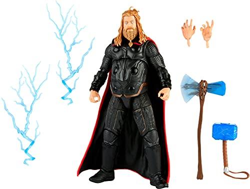 Hasbro Marvel Legends Series, Action Figure Giocattolo in Scala da 15 cm, Thor, Personaggio della Saga dell'Infinito, Design Premium, Personaggio e 5 Accessori