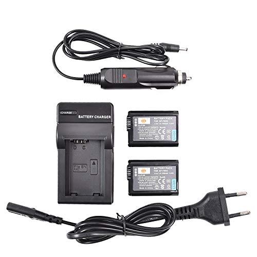 DSTE 2-Pieza Repuesto Batería y DC107E Viaje Cargador kit para Sony NP-FW50...