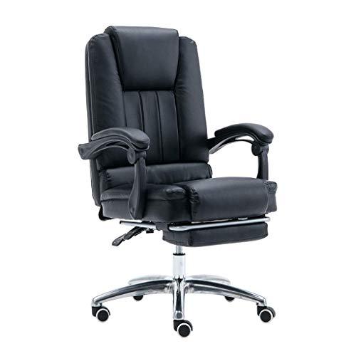 Chair Sedia operativa ergonomica per mobili Sedie direzionali direzionali in Pelle PU con Schienale Alto, Altezza Regolabile 8 cm e sedie da scrivania girevoli reclinabili a 145 ° con Pedali