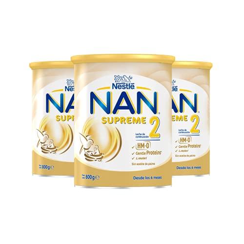 NAN - Supreme 2 Leche De Continuación En Polvo Premium - 3 latas x 800 g