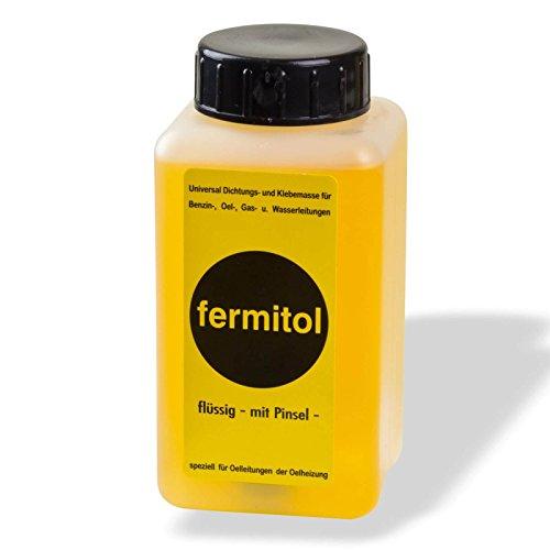Fermit Fermitol 125g Flasche flüssig Kunstharz Kleber Dichtungsmittel Klebemasse Dichtungsmasse Klebemasse Dichten von Gewinden Öl Benzin Fette Spiritus beständig