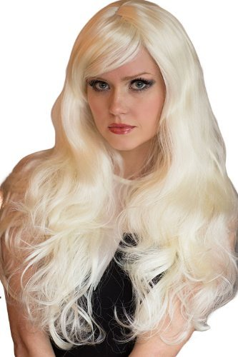 Platinum Blonde Wig With Very Loose Curls, Extra Long : Andreana 250 g par Annabelles Wigs