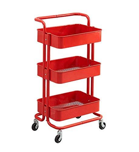 TGhosts Salle de Bains/Storage-3 Tier Shelf Trolley-Fini Chrome, métal