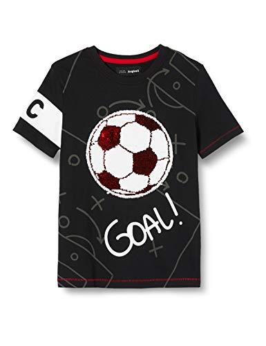 Desigual TS_Manolo Camiseta, Negro (Negro 2000), 128 (Talla del Fabricante: 7/8) para Niños