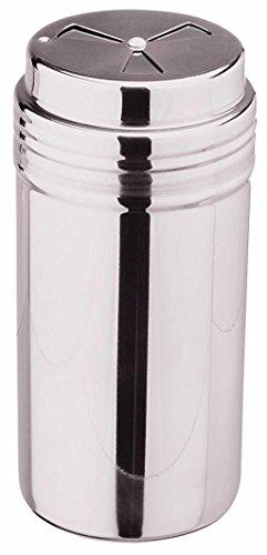 mikken Grosser Gewürzstreuer Rub-Streuer 400 ml, 3 Verschiedene Lochungen aus Edelstahl