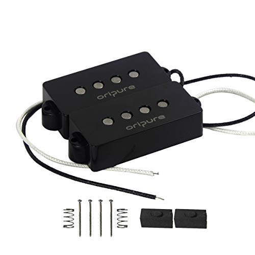 OriPure Alnico 5 P Bass Pickups Humbucker Pickup for 4 String P Bass Guitar, Black