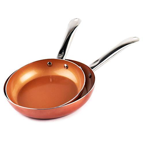 XSQUO Le Originali Vital Copper! Juego de 2 sartenes con Revestimiento de Cobre Ultra...