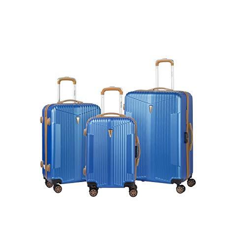 Murano – Juego de 3 maletas, 2 tamaños y 1 cabina – equipaje rígido ABS – azul marino – gama IOA