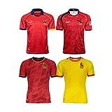 2017-2019-2021 Maillot De Rugby Espagnol, Maillots De Fan De Rugby T-Shirt Espagnol À Domicile Et À L'extérieur Vêtements De Sport De Football red2021-S