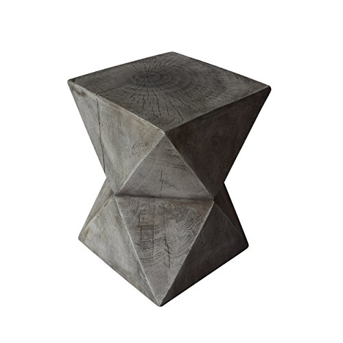 Christopher Knight Home 305836 Lux Outdoor Weight Concrete Side Table, Light Gray