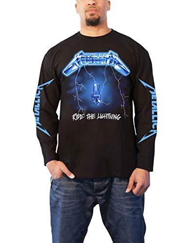 Metallica T Shirt Ride The Lightning Officiële Mens Zwart Lange Mouw XL