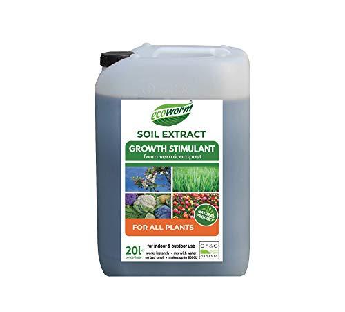 Ecoworm Soil Extract for All Plants - Organic Vermicompost Fertiliser - All Purpose Growth Stimulant, Soil Conditioner, Rebuilder, Natural Pest Control - 20L makes up to 6000L