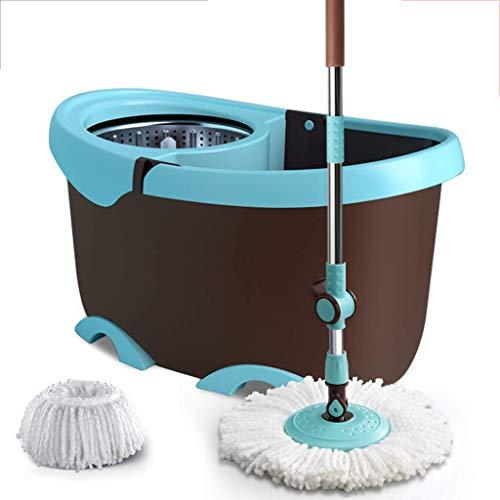 DHTOMC Conjuntos de fregones y Cubitos, Microfibra SPIN MOP Saving Saving Magic Mop Bucket Limpieza Sistema de Limpieza de Acero Inoxidable Herramientas de Limpieza, Rosa Xping (Color : Black)