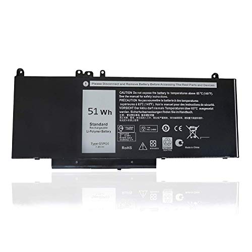 Read About 51Wh 7.4V G5M10 Laptop Battery for Dell Latitude E5250 E5450 E5550 Laptop R9XM9 8V5GX WYJ...