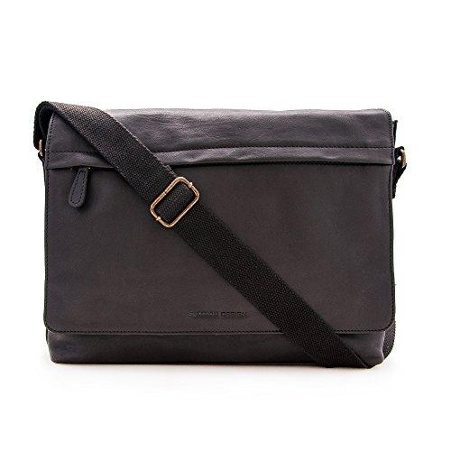 Zerimar Aktentasche Leder   Umhängetasche Leder   Messenger Bag   Satchel Bag   Leder Messenger Bag   Vintage Aktentasche   Massnahmen: 30x39x9 cm