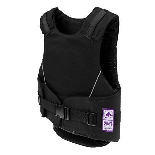 MagiDeal Kinder Reitschutzweste, Komfort und elegant, Kind Körperschutz Sicherheitsweste - Schwarz - M