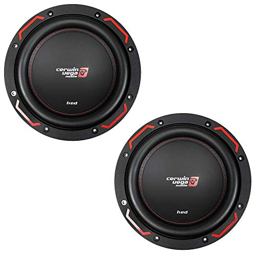 """12"""" Dual 4 Ohm Subwoofers DVC 1400W Max HED Series Cerwin Vega CER-H7124D Pair"""