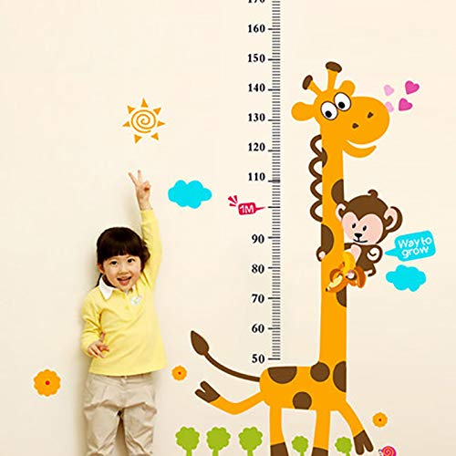 QTTZWZQ Hoogte Liniaal Home Decoratie Sticker Behang Muursticker Huisdecoratie Cartoon Giraffe