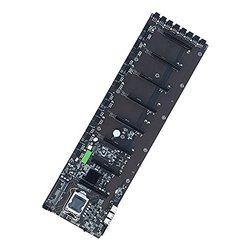 BoBoLily Placa base, placa base Amd Wifi, B75 1155 Pin Motherboard 4 USB DDR3 8 PCIE 16X GPU Mainboard para BTC Mining