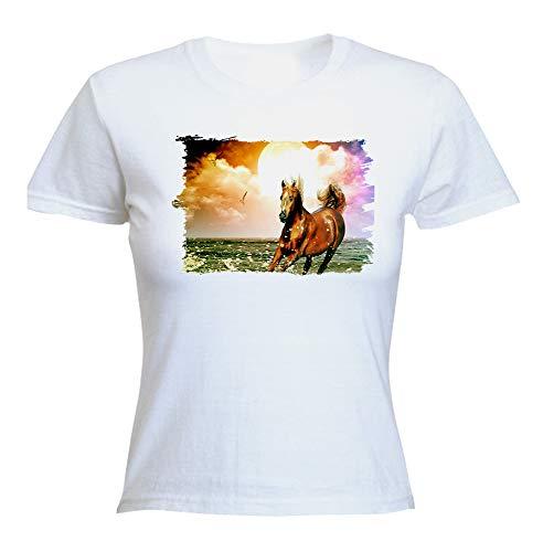 Camiseta Mujer Caballo ARABE Raza Caballos Woman Tshirt
