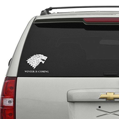 Winter is Coming Car Sticker Weiss