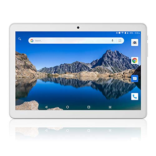 Tablet 10 inch, 3G Phablet Unlocked, Android 8.1 Go Tablets PC with Dual Card Slot, 1G+16GB, Dual Camera, GMS Certified, WiFi, Bluetooth, GPS - Silver