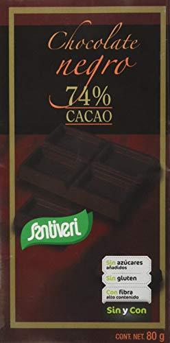 Santiveri Chocolate T.Negro 74 Cacao 80 Gramos Envase De 80 Gramos - 300 g