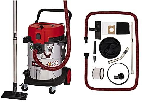 Einhell Aspirador en seco-húmedo TE-VC 2350 SACL (1600 W, clase de protección al polvo L, sistema de limpieza de filtros, potencia de aspiración 230 mbar, contenedor de acero inoxidable de 50 l)