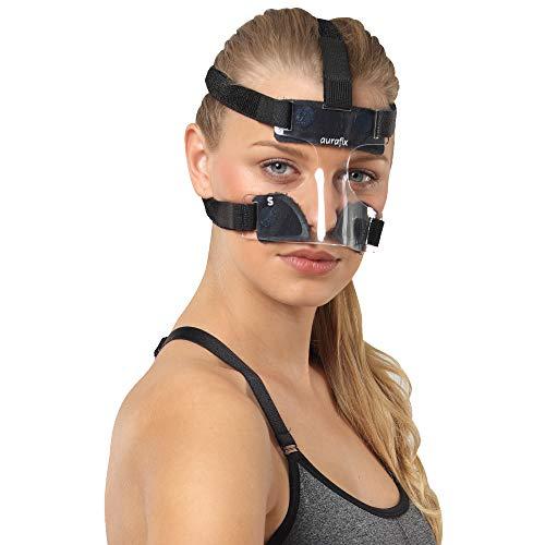 Protector nasal para nariz rota, baloncesto, protector facial, máscara protectora para la nariz, protección contra lesiones de impacto, máscara de baloncesto, máscara deportiva (M)