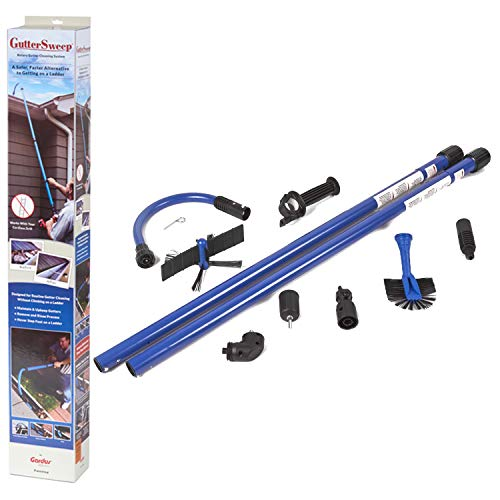 Gardus GS900 GutterSweep Rotary Gutter Cleaning System, Easy Gutter Maintenance, Safely & Effectively Maintains Gutters from the Ground Up Without Needing a Ladder