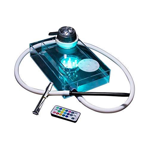 水タバコ シーシャ フーカ Shisha Hookah LEDで光る! 薄型 スリム 本体