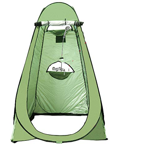 Outdoor Bathing And Changing Tent individual Army green painted silver three windows