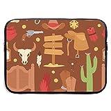 13/15 inch Wild West Cartoon Cowboy Laptop Hülle Tasche Tragbare Reißverschluss Laptop Tasche...