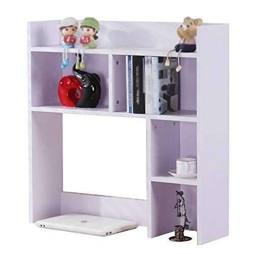 ZHAS Estantería sobre la Mesa Estantería de Oficina Estantería de Almacenamiento para Escritorio (Color: Blanco 80 * 20 * 80cm)