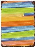 Gouache Art Splash Line Acuarela Pintura al óleo, Cartel de chapa de metal vintage Decoración de pared Arte 15.7 'x11.8' Decoración de pared de café familiar